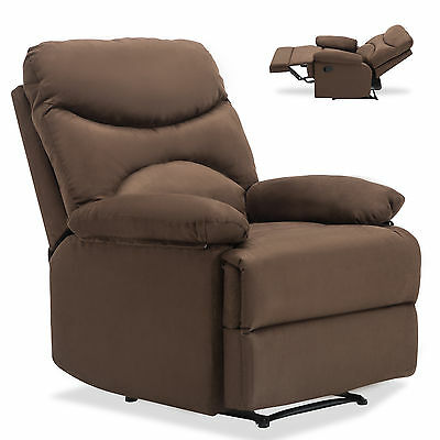Ergonomic Lounge Heated Microfiber Massage Recliner Sofa Chair w/Control