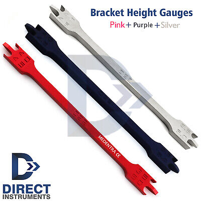 Orthodontic Bracket Positioning Height Gauges Wick Type 4mm-4.5mm-5mm-3.5mm 0.22