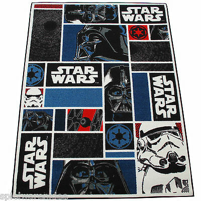 Star Wars Teppich 133x95 cm Kinderteppich Spielteppich Disney StarWars Icons 01
