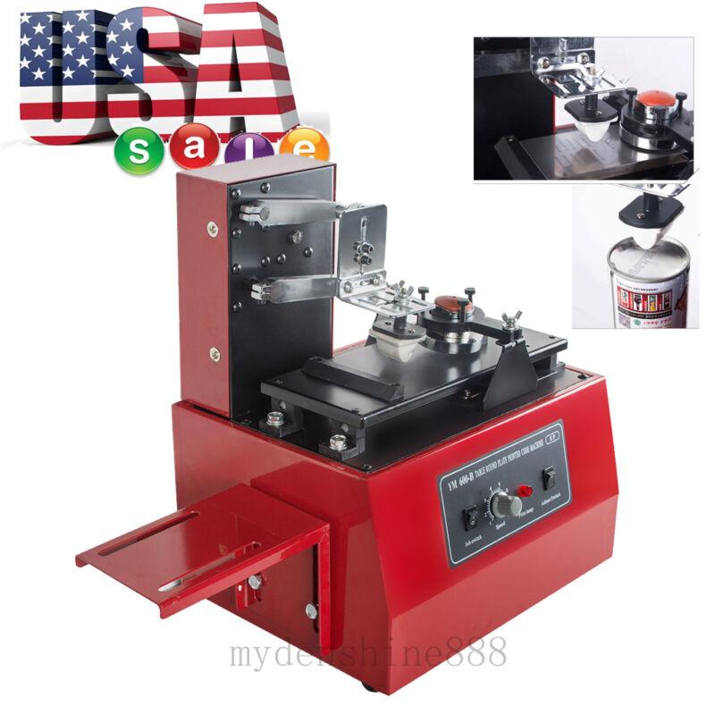 Electric Pad Printer Printing Machine f/ T-shirt Ball Pen Light Ink LOGO Coding