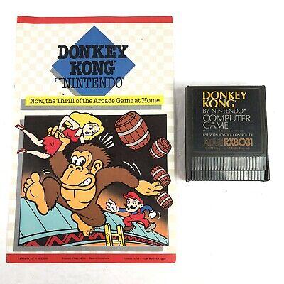 ATARI Donkey Kong Game Cartridge And Manual 400 800 1200XL 130XE 810 1050