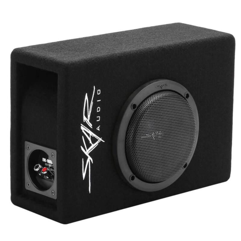 "NEW SKAR AUDIO EVL-1X65D4-V-LP 6.5"" 400W LOW-PROFILE LOADED PORTED SUB ENCLOSURE"