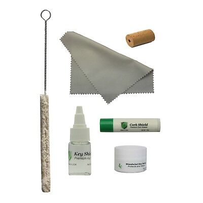 Flute Care Kit, Key Oil, Swab, Cleaning Swab, Cork Grease, Head Cork, Polish