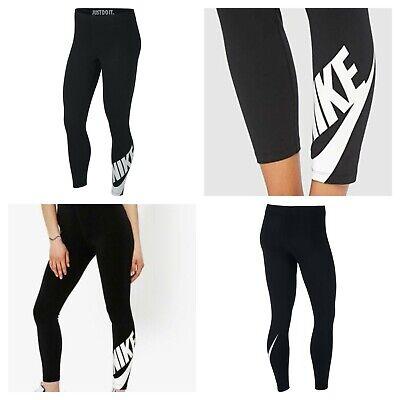 Nike Womens Fitness Leggings sportswear Gym Jogging Bottoms Pants Size XS S M L