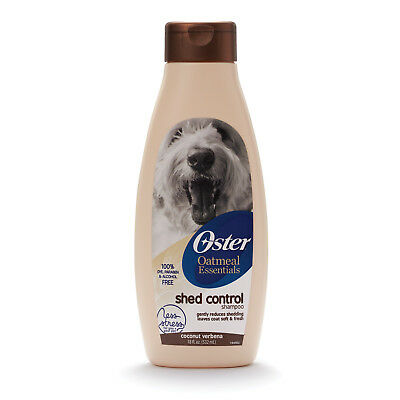 Oster Oatmeal Essentials SHED CONTROL SHAMPOO for Dogs COCONUT VERBENA SCENT