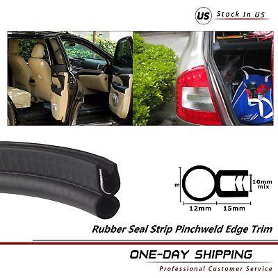 32Feets Decoration U-Channel Metal Rubber Seal Strip Edge Trim Car Accessory