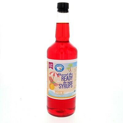 Snow Cone Syrup Or Hawaiian Shaved Ice Flavor Peach Ready To Use Quart