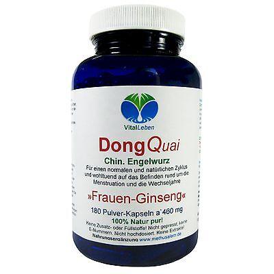 Dong Quai Frauen-Ginseng 180 Pulver Kapseln Natur Pur. 25207