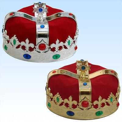 krone Kopfschmuck Herrscher Fasching Karneval Königskostüm (Kostüm König Krone)