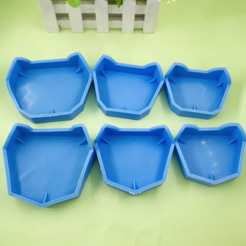 Rubber Dental Lab Plaster Model Former Base Molds Tool Tray Blue Silicone-6 Pcs