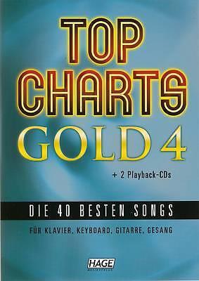 Klavier Keyboard Gitarre Noten - TOP CHARTS GOLD 4 - inkl. 2 Playback - CDs