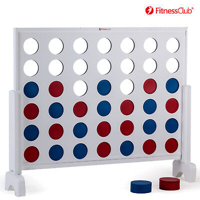 Giant Connect 4 Line Up Row Jumbo Play Game Wooden Board Family Outdoor Yard (Line Up Game)
