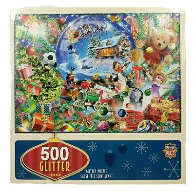 MasterPieces 500 Piece Glitter Puzzle Snow Globe Dreams Christmas Complete