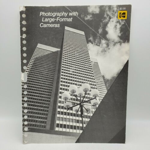 1973 Kodak Photography with Large Format Cameras Guide Book - First Edition