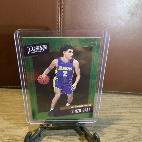 2017-18 LONZO BALL Panini Prestige Green Micro Etch Rookie Card  - $6.97