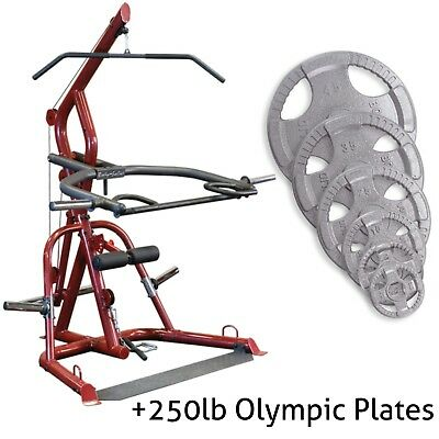 c56095f594bc2 Body Solid Corner Leverage Plate Load +250lbs Olympic plates Garage Gym  GLGS100