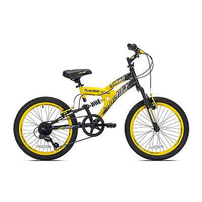 Kent Bikes Avigo Air Flex Dual Suspension Steel 20 Inch Boys BMX Bike, Yellow
