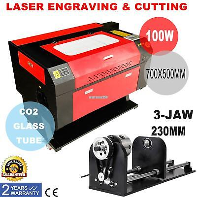 100w Co2 Laser Cutter Engraver Cutting Engraving Machine W Router Rotary Axis