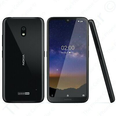 "Unlocked Nokia 2.2 TA-1179 GSM 5.71"" 2GHz Quad-Core Black Smartphone"