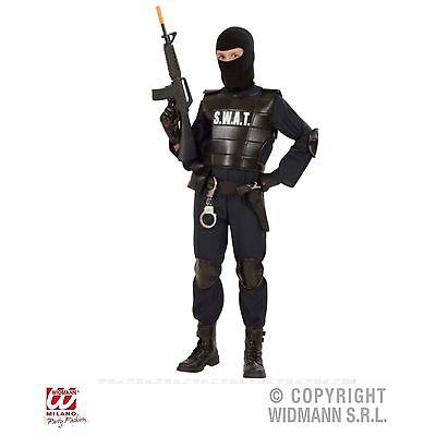 SWAT Officer Kinder S.W.A.T. Police Agent Kostüm 158 Fasching Karneval 55348