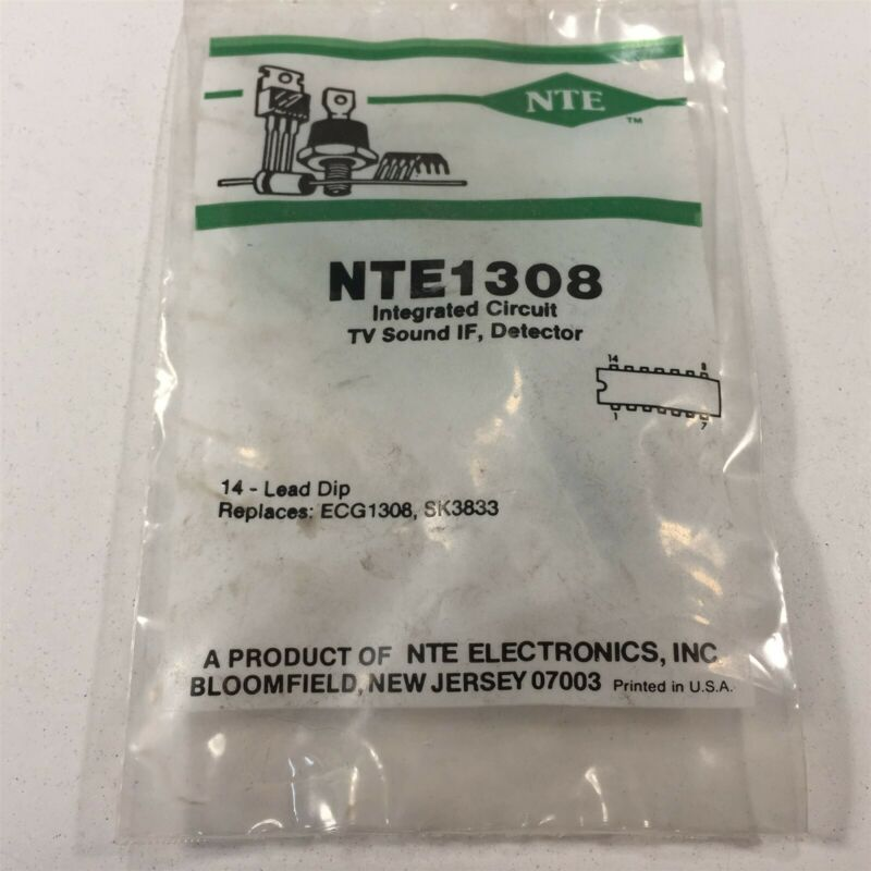 (1) NTE NTE1308 Integrated Circuit TV Sound IF Detector