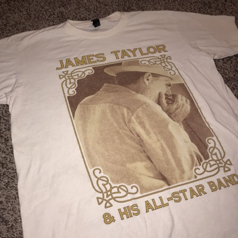 James Taylor & All Star Band Two Sided Tour T-Shirt Size Medium
