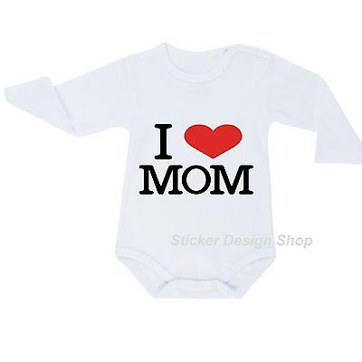 I love Mom T-Shirt Druck Bügelbild für Selbst Applikation Aufbügeln Baby Kinder gebraucht kaufen  Bergkamen