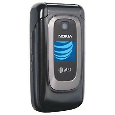 GOOD!!! Nokia 6085 Black Camera Video GSM Bluetooth Speaker Flip AT&T Cell Phone