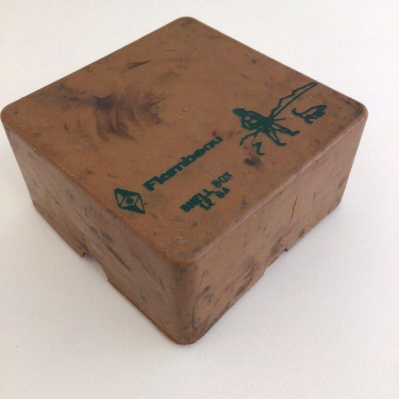 Vintage Flambeau 12 Gauge Shell Box Marbleized Plastic Holds 25
