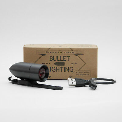 RINDOW BIKES BULLET LIGHTING Bicycle Tail light Black Red LED NEW