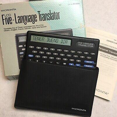 Language Translator Radio Shack Micronta 63-683a