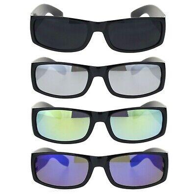 Mens Mirrored Classic 90s Mad Dog Cholo Narrow Rectangular (Mad Dog Sunglasses)