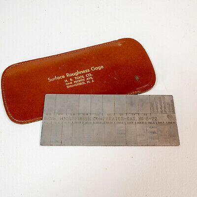 Vintage H.b. Tool Surface Roughness Scale S-22 Machining Microfinish Comparator