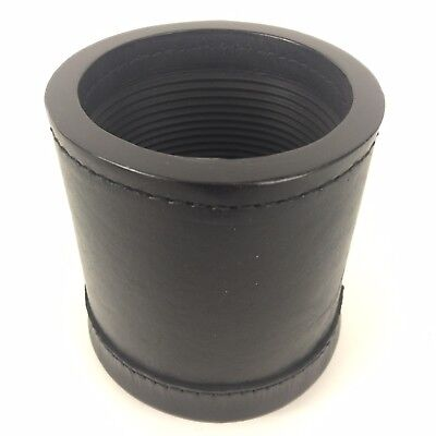Professional Dice Cup (Genuine Leather Dice Cup Box Professional Quality New Ribbed Inside Bar)