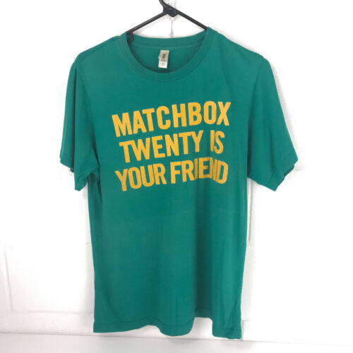 Vintage Matchbox Twenty Are My Friends t-shirt Anvil cotton green small clth2