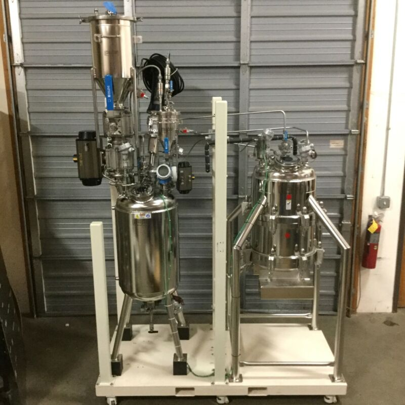 Pope Isolation/Crystallizing 120L Jacketed Reactor, 100L Nutsche Filter Dryer