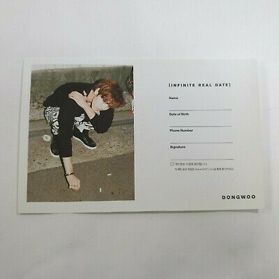 INFINITE 5th Mini Reality Official Original Dongwoo Date Event Photocard 1p KPOP