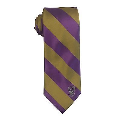 Sigma Pi Striped Crest Design Tie   Brand New Product