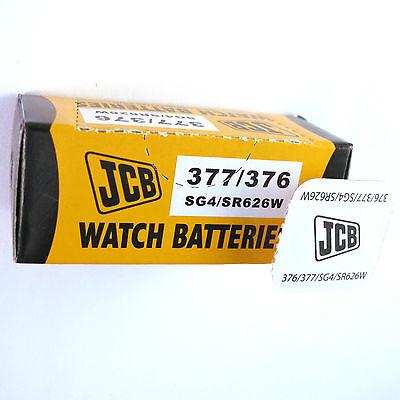 1 x JCB 377 376 Silver Oxide SR626W 1.55V Watch Battery SG4 377 Silver Oxide Watch Battery