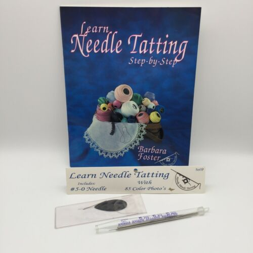 LEARN NEEDLE TATTING STEP BY STEP W/ 4 NEEDLES KIT HANDY HANDS SET5P
