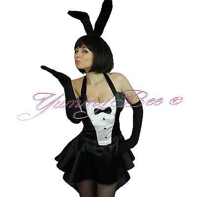 Yummy Bee Bunny Girl Fancy Dress Costume Sexy Hostess Plus Size 6-18 + Tights  - Bee Girl Costume