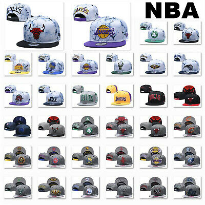 Unisex Men Women Adjustable Snapback Basketball Embroidery All Team Baseball Cap