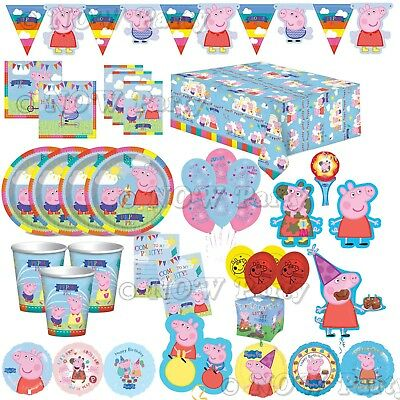 Peppa Pig Birthday Banner (PEPPA PIG Happy Birthday Party Supplies Tableware Balloons Decorations)