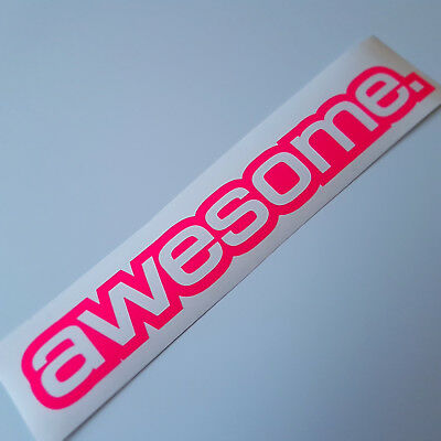 e Neon pink Auto Tuning Sticker dapper illest Dub Shocker  (Awesome Aufkleber)