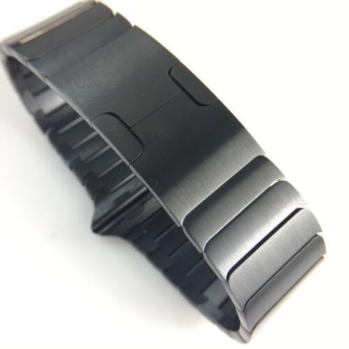 Original APPLE Watch band Series 3 2 Gliederarmband Edelstahl Space Schwarz 42mm