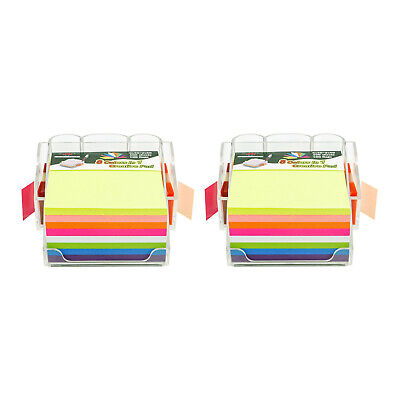 4a Sticky Note Dispenser Pen Holder Set 400 Sheets And 100 Flags 2 Packs