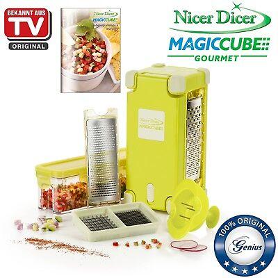 Genius Nicer Dicer Magic Cube Gourmet | 9 Teile | Allesschneider | B-Ware