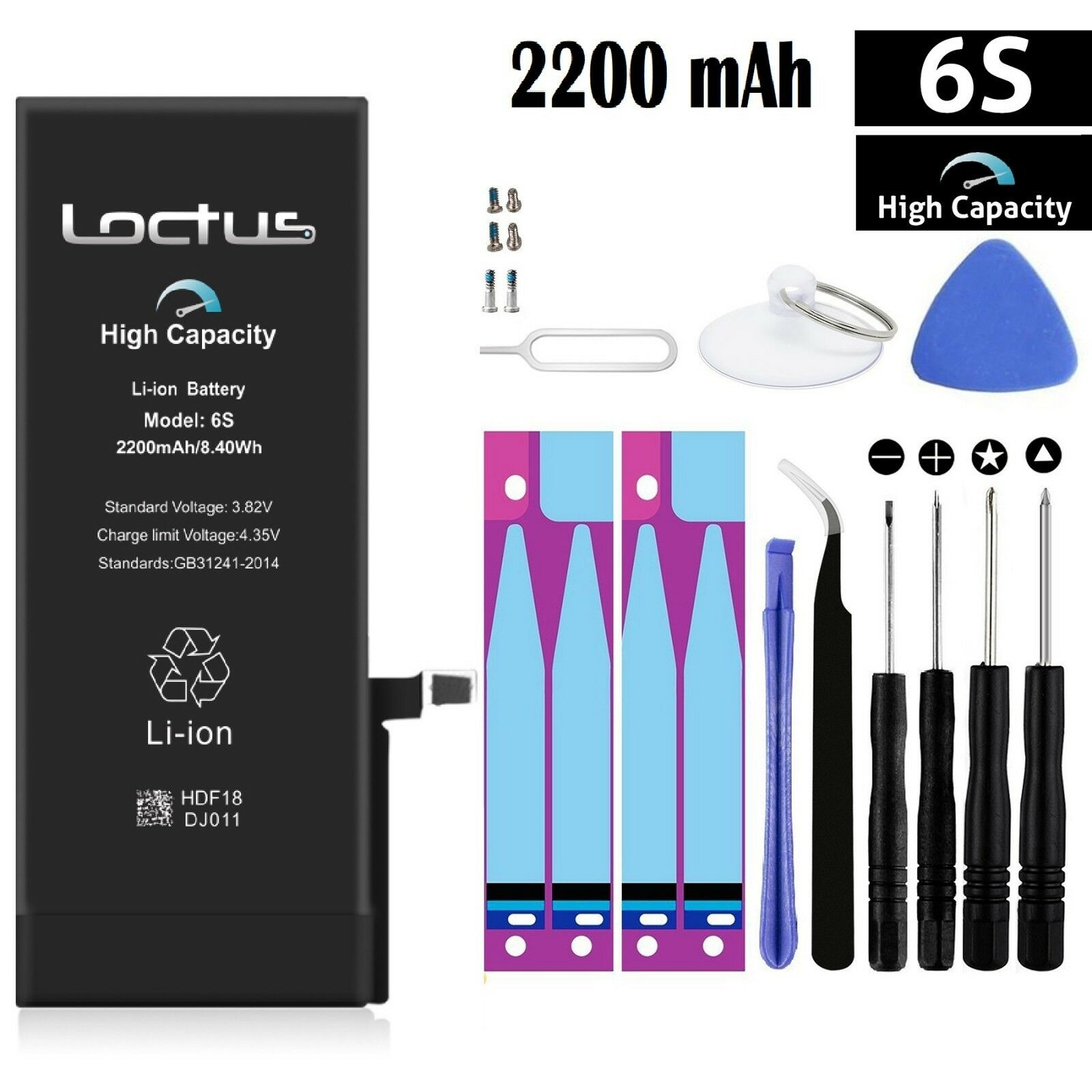 new 2200mah high capacity replacement internal battery