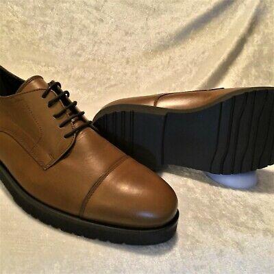 Amedeo Testoni (a.testoni) Brown Leather Derby Cap Toe Dress Shoes - Size 10