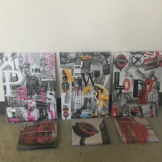2 x Sets of Matching Canvases (Pricing in Description)